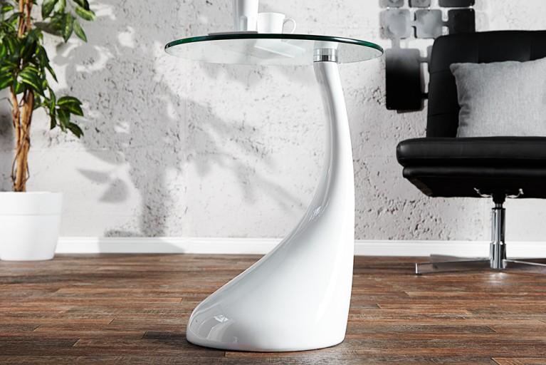 Design Beistelltisch LOUNGE TEAR weiß