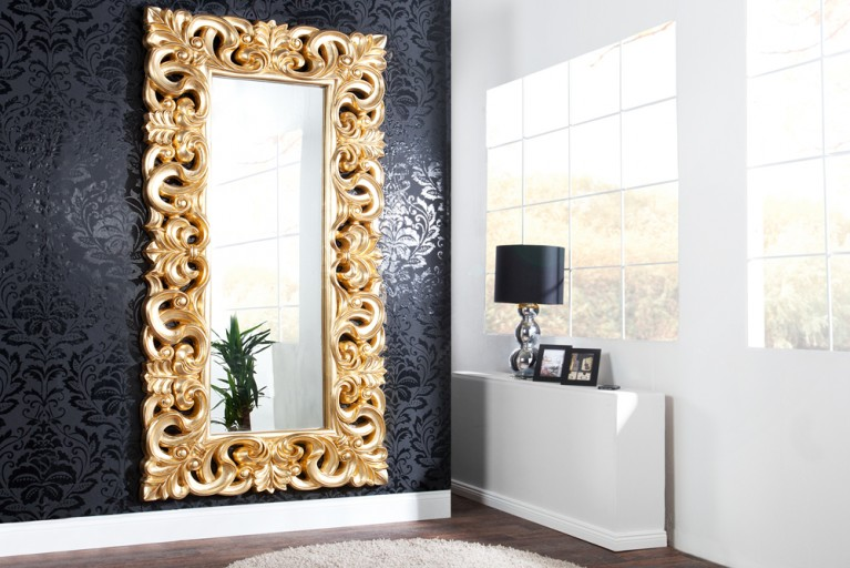 riesiger barock spiegel venice silber antik 90x180cm riess. Black Bedroom Furniture Sets. Home Design Ideas