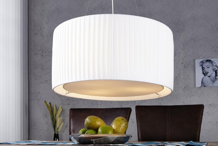 Riesige Design Hängelampe SOBRIETA weiss 65 cm
