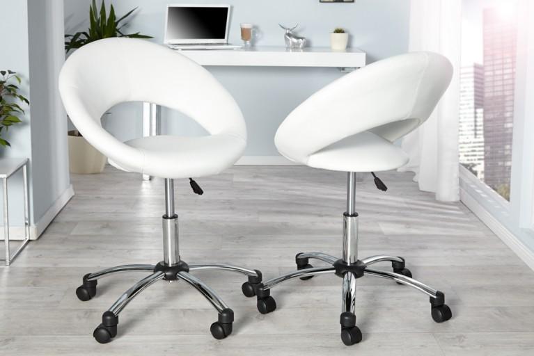 Design Bürosessel SENNA Office weiss Bürostuhl