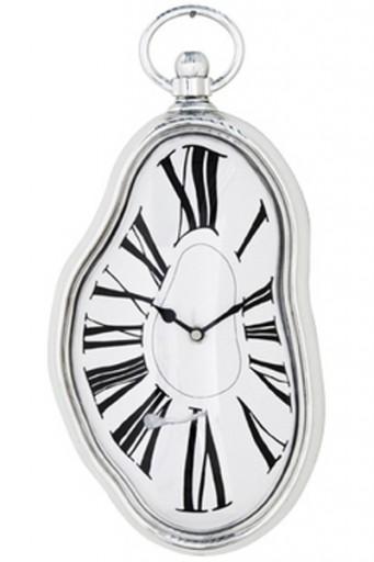 KARE DESIGN Wanduhr FLOW Uhr Küchenuhr weiss silber