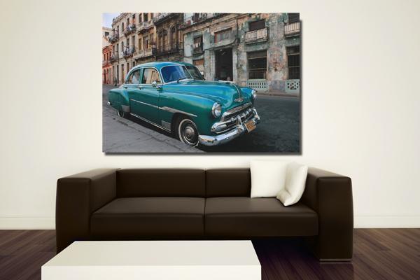 Riesiger Kunstdruck Kuba HAVANA CARS 110x140cm Bild Leinwand