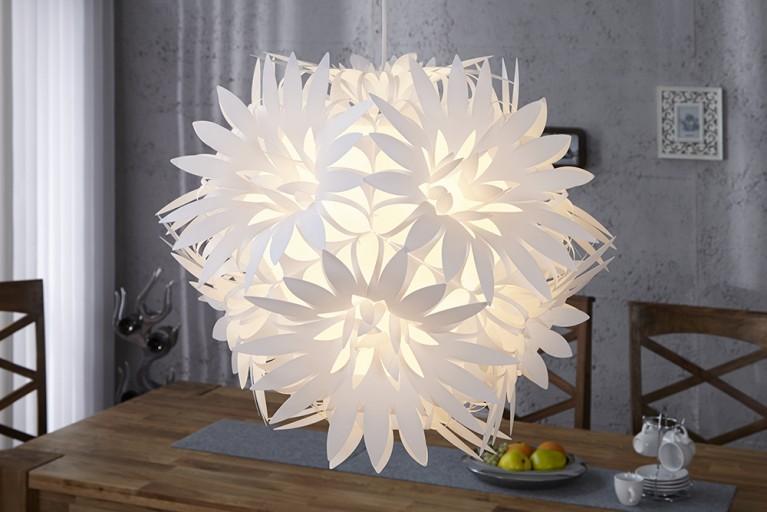 Florale Design Hängelampe FIORE weiss Pendelleuchte