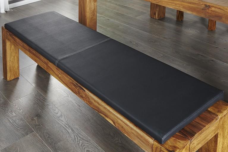 Elegantes Klemmkissen JAM für Sitzbänke schwarz 150cm