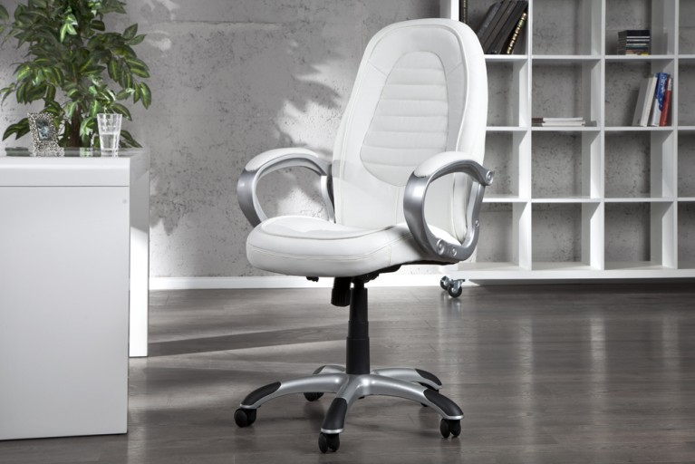 Design Chefsessel CONFIDENCE weiss silber