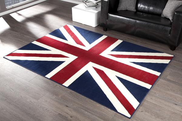 Moderner Design Teppich UNION JACK 140x200cm Läufer Großbritannien