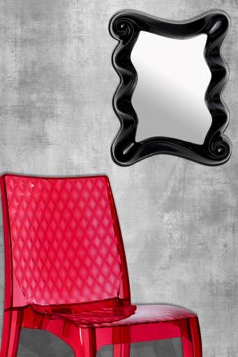 Faszinierender Wandspiegel ALICE schwarz 50cm Spiegel