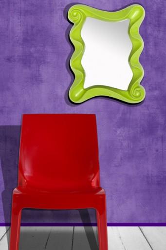 Faszinierender Wandspiegel ALICE hellgrün 50cm Spiegel
