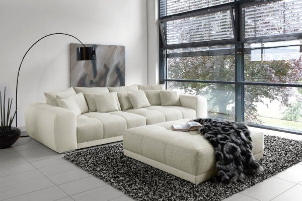 Außergewöhnliches XXL Sofa GIANT LOUNGE in Trendfarbe Greige