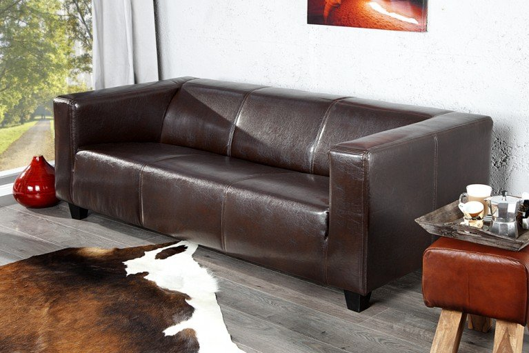 Design Sofa LIFESTYLE  3-Sitzer in coffee