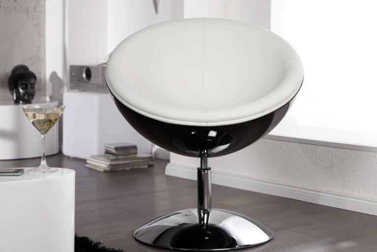 Design Cocktail Sessel GALAXY schwarz weiss