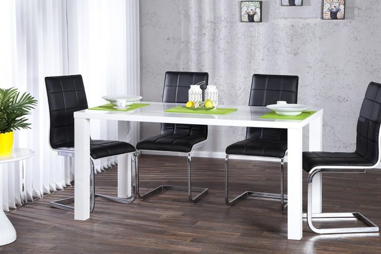 Design Esstisch LUCENTE weiss hochglanz 140cm Tisch