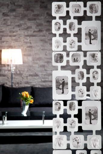 Stylischer Fotovorhang PHOTO CASCADE weiss variierbar Raumteiler