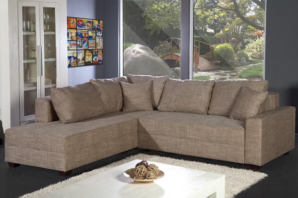 design ecksofa apartment strukturstoff grau federkern sofa schlaffunktion riess ambiente. Black Bedroom Furniture Sets. Home Design Ideas