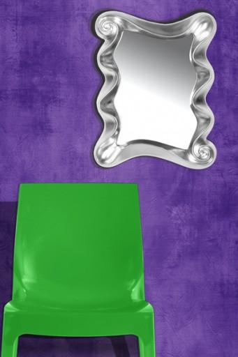 Faszinierender Wandspiegel ALICE silber 50 cm Spiegel