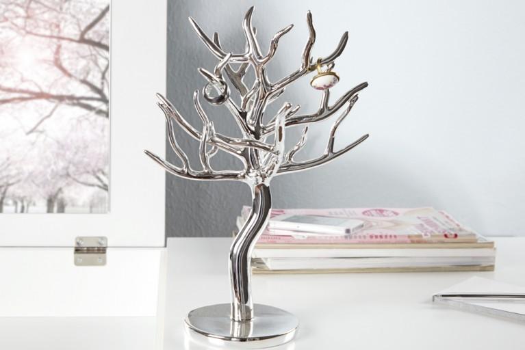 Großer Design Schmuckhalter LUXURY 30cm silber Schmuckbaum Schmuckständer