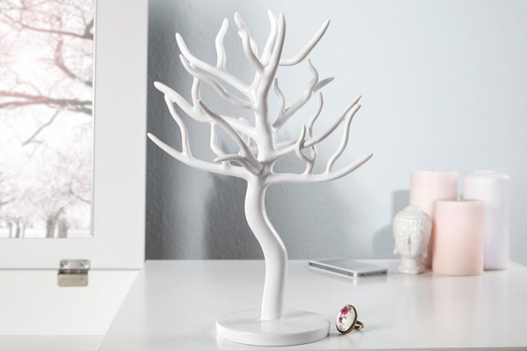 Großer Design Schmuckhalter LUXURY 30cm weiss Schmuckbaum Schmuckständer