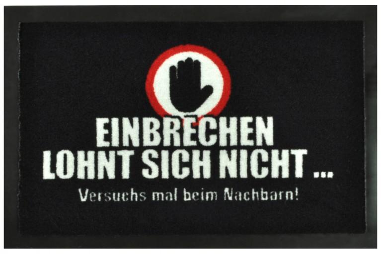 Große Fußmatte EINBRECHER waschbar 40x60cm Schmutzfangmatte