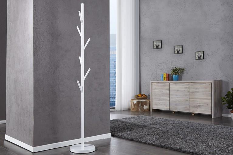 Moderner Garderobenständer TREE weiß Garderobe Kleiderständer
