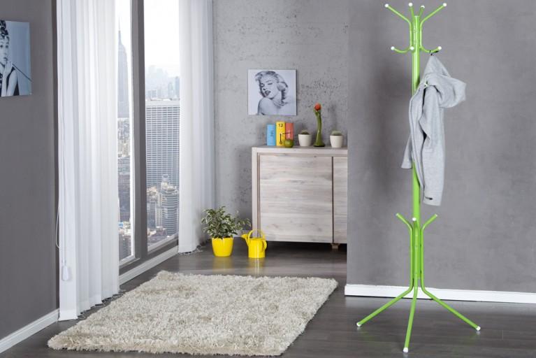 Design Garderobe RUBINO grün Garderobenständer Retro Kleiderständer