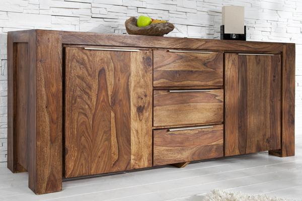 Sideboard MAKASSAR aus Sheesham 180cm Kommode Massiv Holz