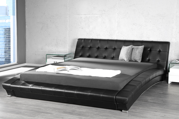 Exklusives Design Doppelbett NEW YORK 180x200 cm schwarz