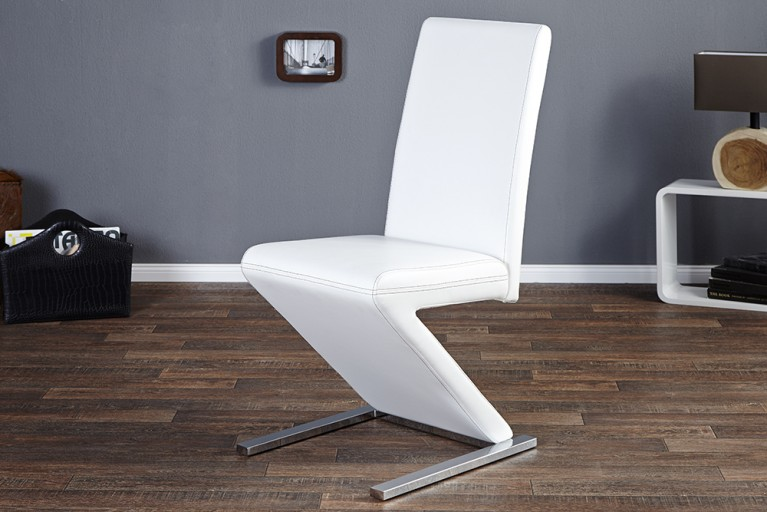 Eleganter Design Stuhl AIR weiss