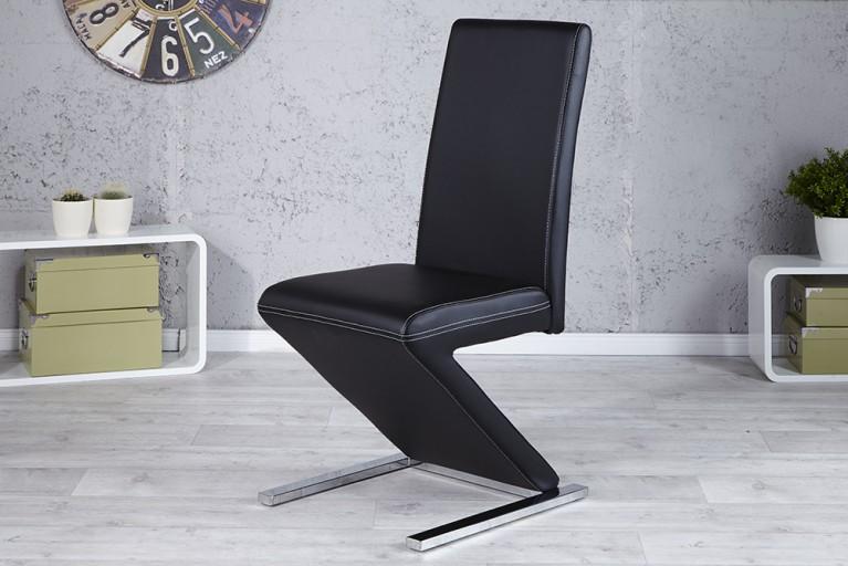 Eleganter Design Stuhl AIR schwarz