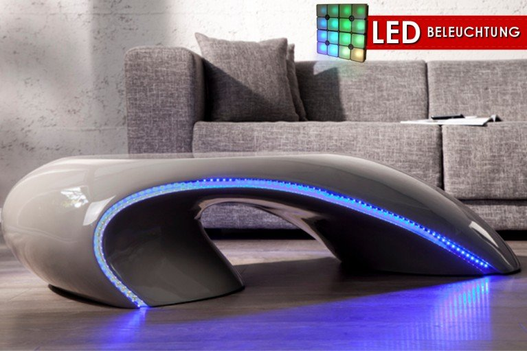 design couchtisch district hochglanz mit led beleuchtung riess. Black Bedroom Furniture Sets. Home Design Ideas