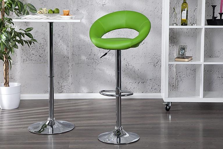 Stylischer Barhocker CARRERA grün