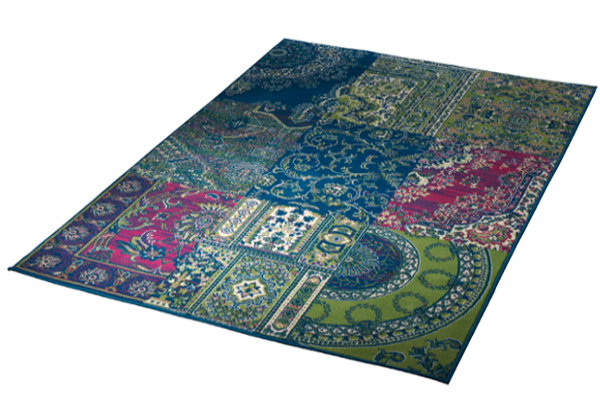 Großer Design Patchwork Teppich COPPER 160x230 cm Vintage