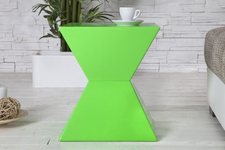 Design Tisch PYRAMID grün Beistelltisch Multifunktional