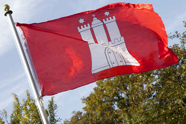 Große Landes Flagge HAMBURG 150 x 90 cm Wappen