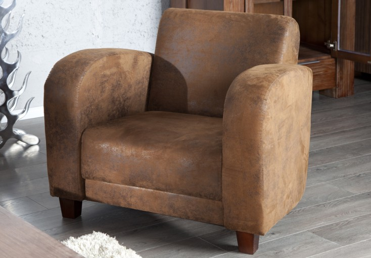 Eleganter Lounge Sessel HAVANNA LOUNGE braun