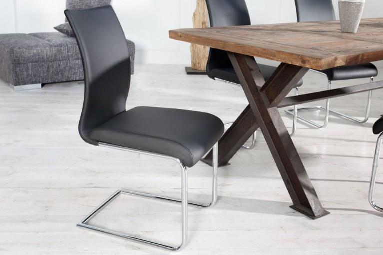 Design Freischwinger Stuhl SUAVE schwarz