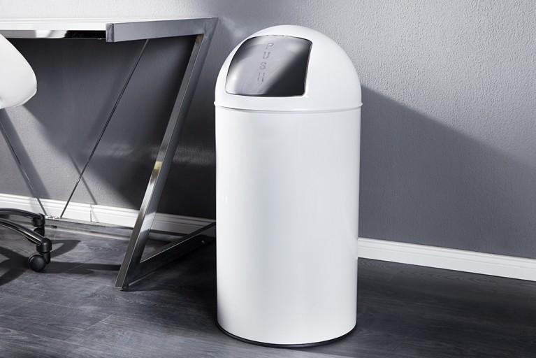 Designklassiker Grosser PUSH CAN Mülleimer 50L weiss