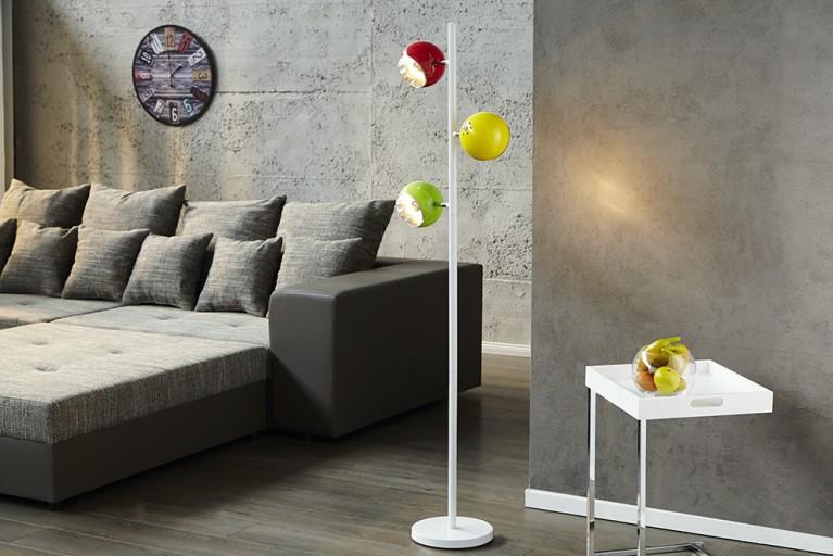 Stylishe Designer Stehlampe TRITON in bunt