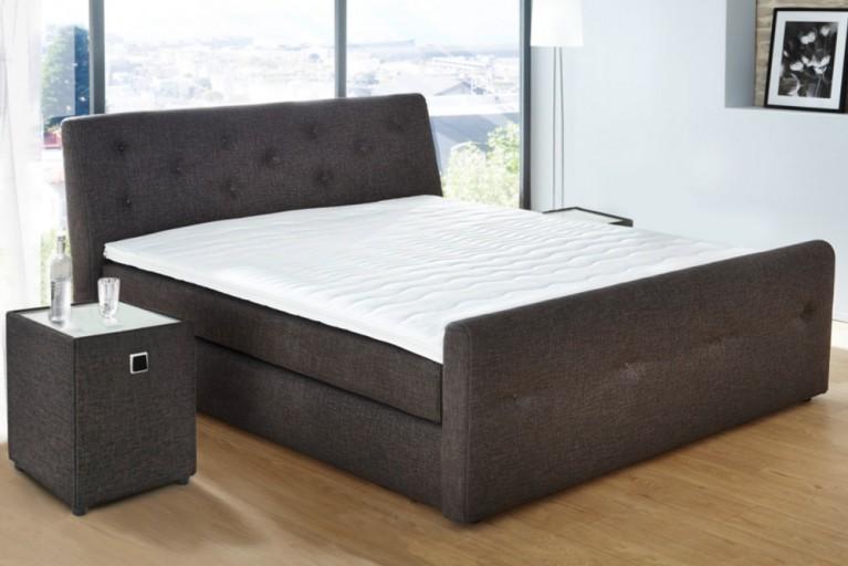 Luxus Boxspringbett BELLEVUE 180x200 cm anthrazit mit Hotelbett Matratze