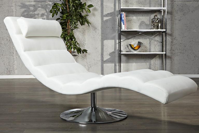 Extravagante Design Liege RELAXO weiß Relaxliege