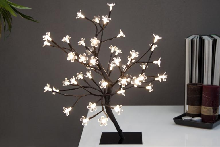 Märchenhafter Lichterbaum CHERRY BLOSSOM warm weiss 45cm LED Baum Kirschblüten
