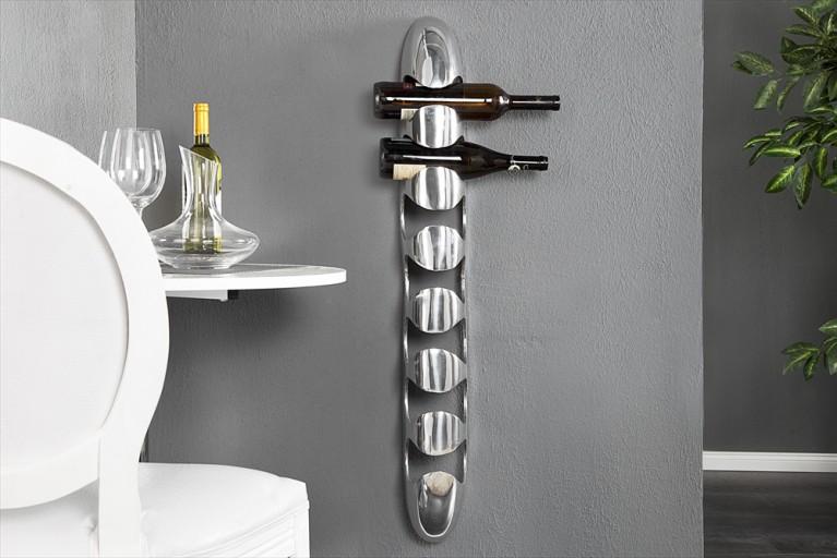 Design Weinregal TOWER Metall-Aluminium Legierung Flaschenhalter fuer 7 Flaschen Accessoire 105cm