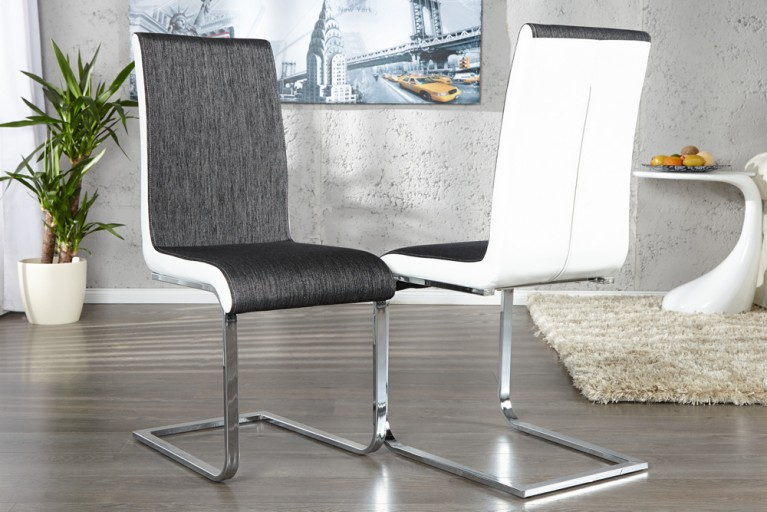 design esstisch valencia weiss ausziehbar 160 220cm hochglanz stahl geb rstet riess. Black Bedroom Furniture Sets. Home Design Ideas