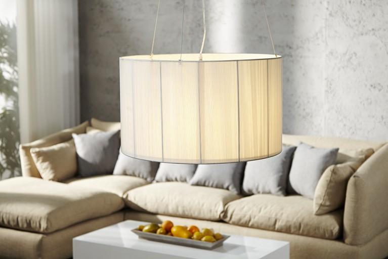 Große Design Hängelampe EXTENSO weiß 60 cm