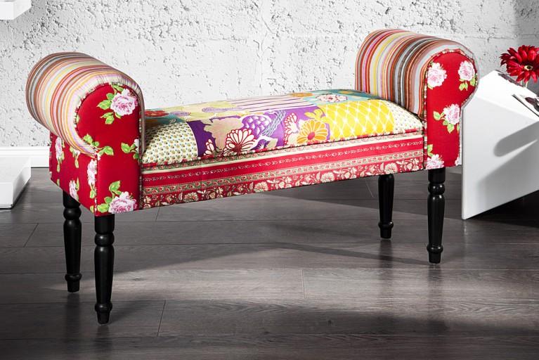 Design Patchwork Bank IBIZA mehrfarbig Sitzbank