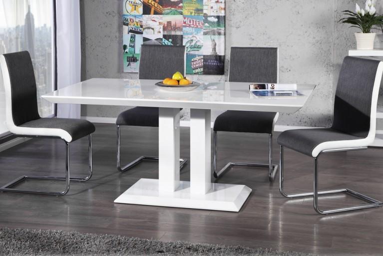 Design Esstisch ATLANTIQUE Highgloss 160cm weiss Tisch