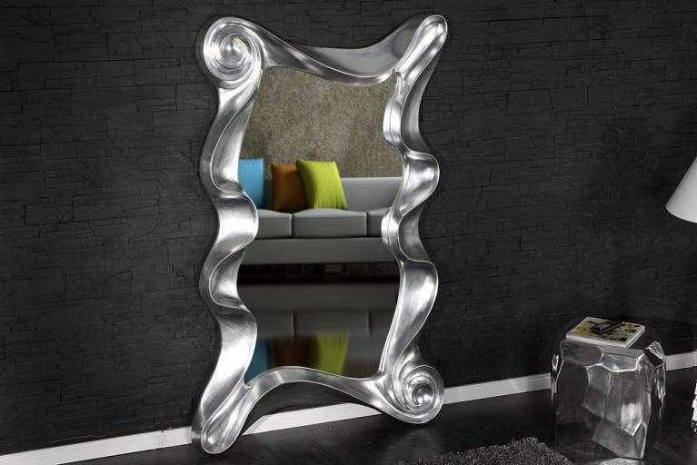 Riesiger Wandspiegel ALICE silber 160 cm Spiegel Skulptur Designobjekt