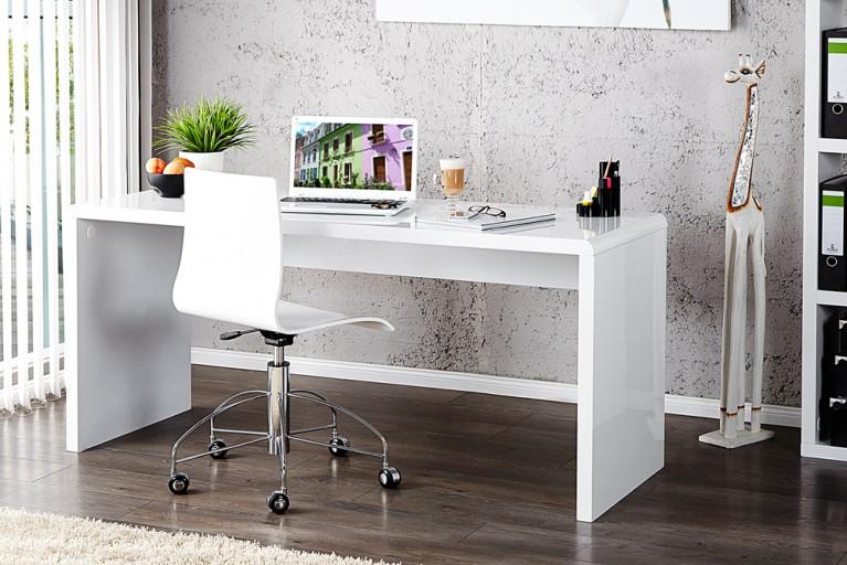 Design Schreibtisch FAST TRADE Hochglanz weiss 160cm Computertisch