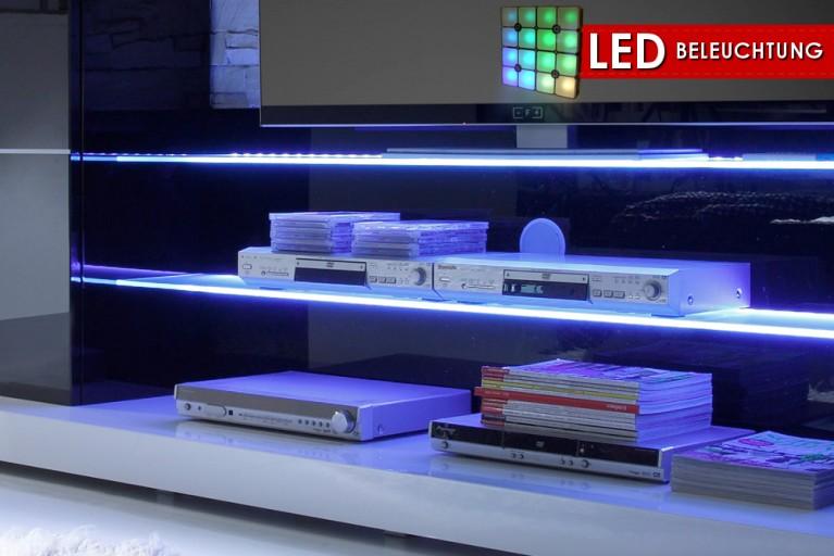 LED-Glaskantenbeleuchtung 2er SET blau für Wohnwand TWIN