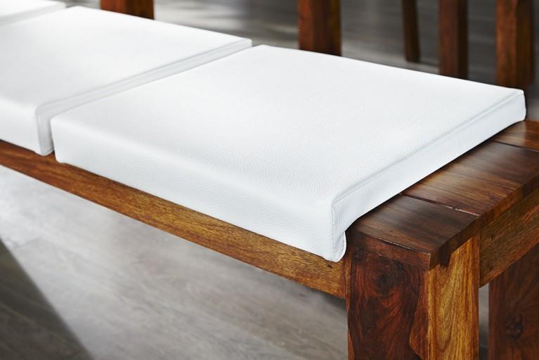 Elegantes Klemmkissen JAM für Sitzbänke weiss 40 cm
