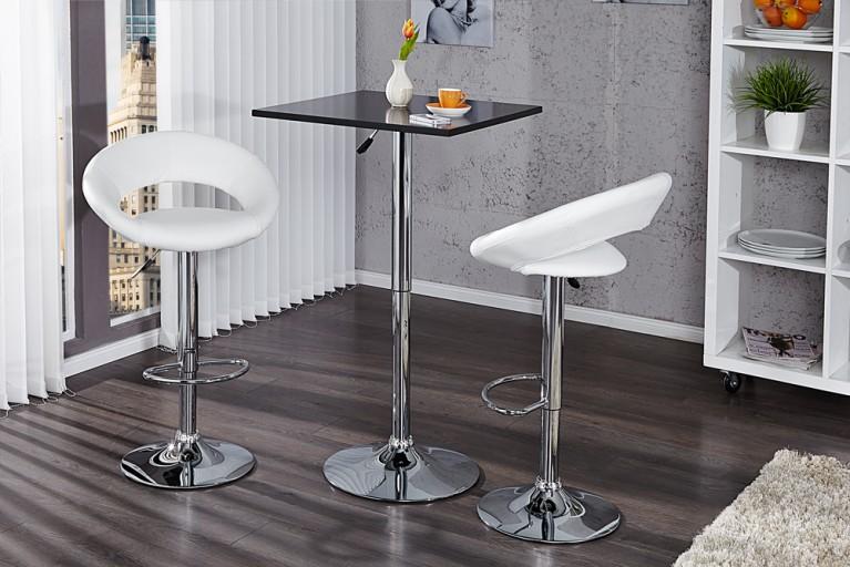Design Stehtisch MOVE schwarz Bistrotisch höhenverstellbar Bartisch Tisch